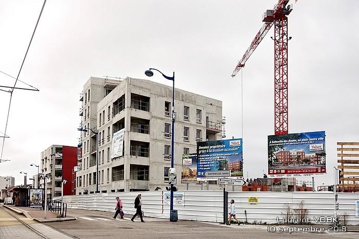 Construction place Voltaire - Sotteville-lès-Rouen