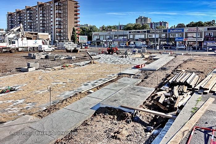 Travaux de réaménagement de la place de l'hôtel de ville - Sotteville-lès-Rouen
