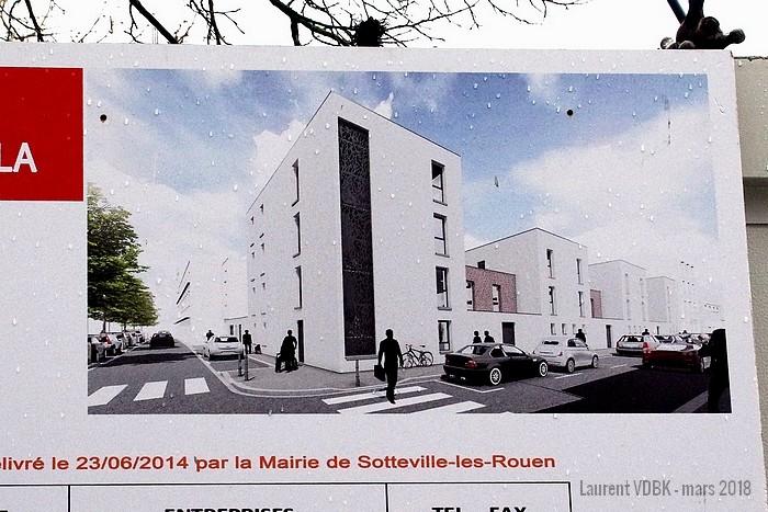 rue de la république - résidence Berty Albrecht - Sotteville-lès-rouen