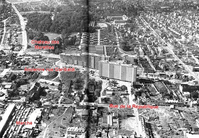 Reconstruction d'après-guerre : Le futur Espace Marcel Lods à Sotteville-lès-Rouen 1951