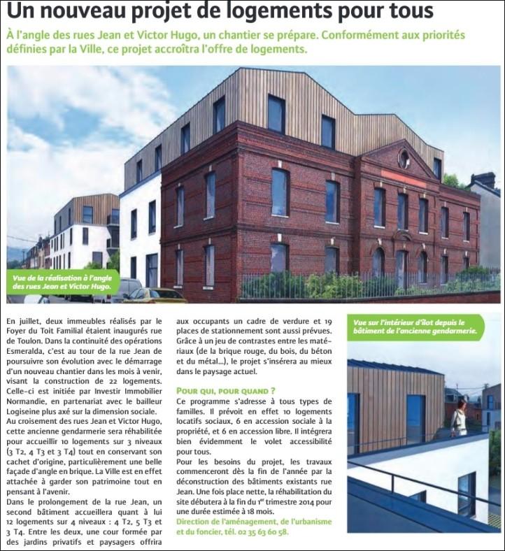 Projet gendarmerie sotteville-lès-rouen (sotteville mag octobre 2013)