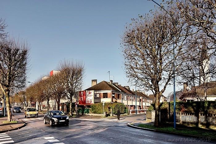 Angle de la rue Victor Hugo et de l'Avenue du juillet - Sotteville-lès-Rouen