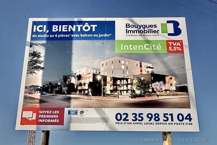 Début de chantier à Sotteville-lès-Rouen