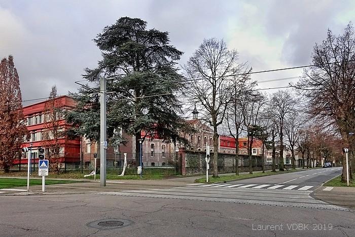 Le centre Hospitalier du Bois Petit avenue Jean Jaurès et rue de la Libération - Sotteville-lès-Rouen