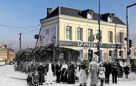 Restaurant à l'angle de l'avenue du 14 juillet et de la rue Léon Salva à Sotteville-lès-Rouen
