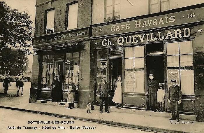 Ancien commerce rue de Paris à Sotteville-lès-Rouen