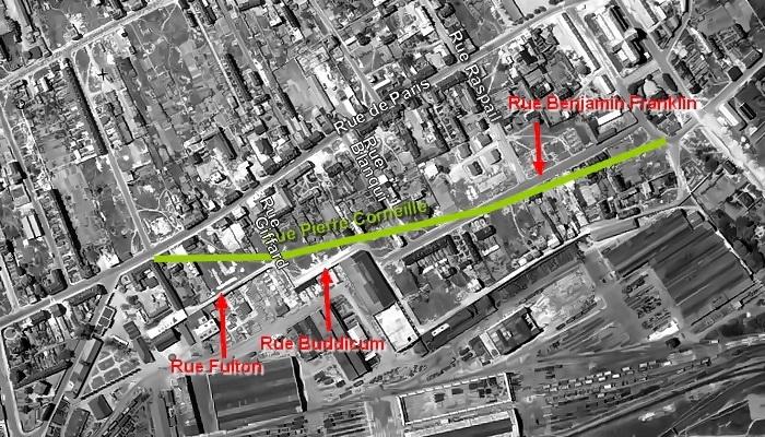 Plan anciennes rues - Sotteville-lès-Rouen