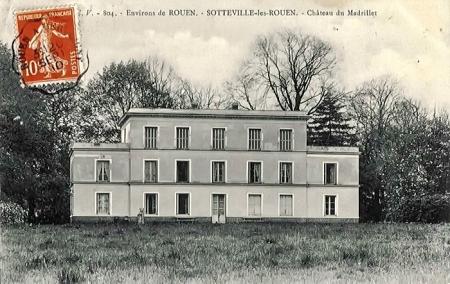 """Le château du Madrillet dit """"Château Blanc"""" à Sotteville-lès-Rouen mais en réalité à Saint Étienne du Rouvray"""