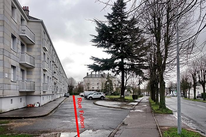 Rue et immeuble Fulton - percement de la rue Pierre Corneille - Sotteville-lès-Rouen