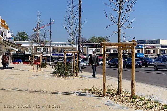 Travaux place de l'Hôtel de Ville de Sotteville-lès-Rouen