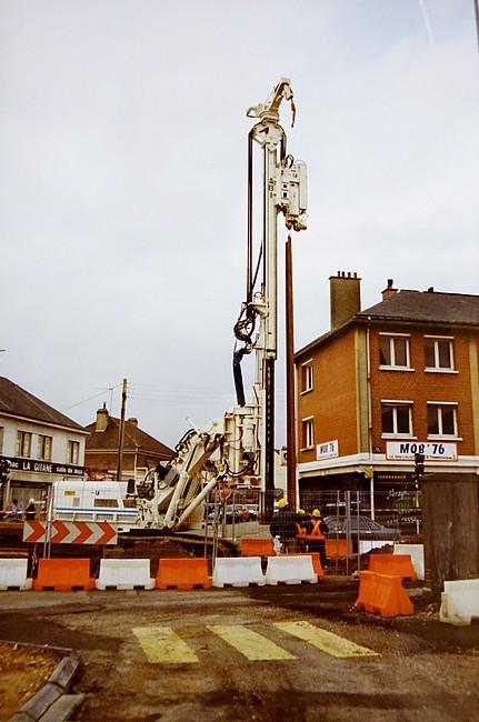 Le chantier du métro à Sotteville