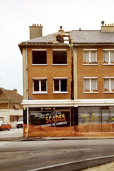 Le chantier du métro à Sotteville-lès-Rouen