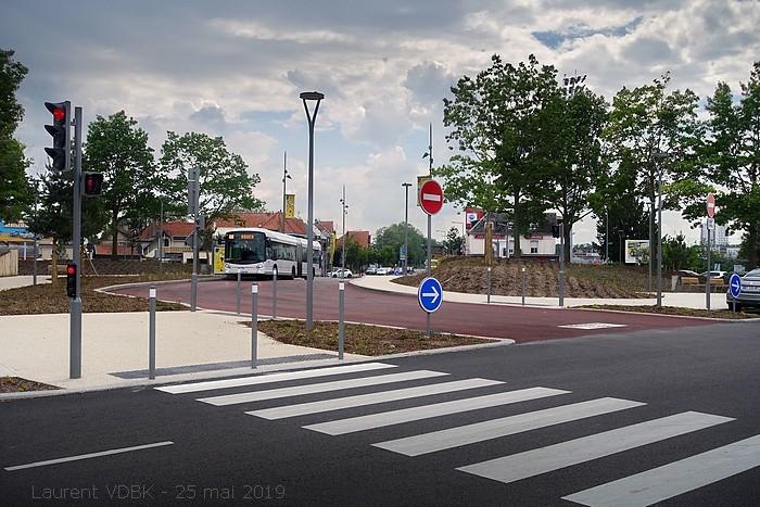 Ouverture de la ligne T4 le 25 mai 2019 - Rond-Point des Bruyères - Station Stade Diochon