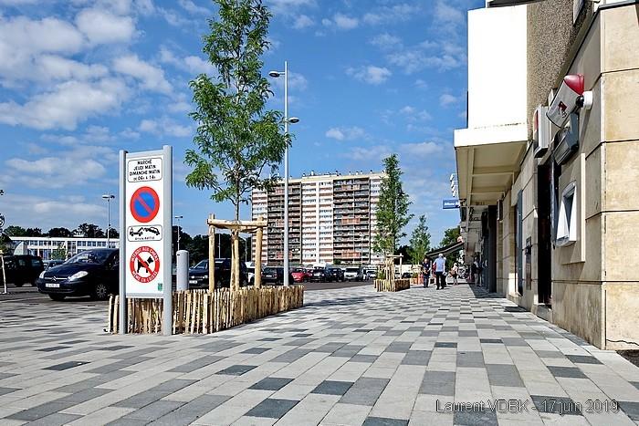 Sotteville : La place de l'Hôtel de Ville rénovée