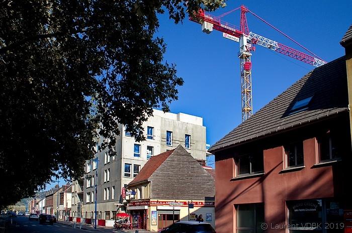 Chantier à l'angle des rues Raspail et Victor Hugo - Sotteville-lès-Rouen
