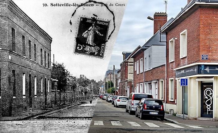 Rue du Cours avant/après - Sotteville-lès-Rouen