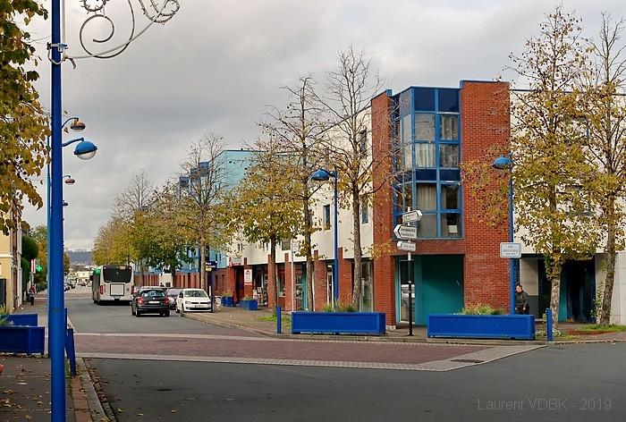 Rue Pierre Mendès-France et PLace Charles de Gaulle - Sotteville-lès-Rouen