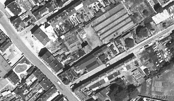 Vue aérienne de la rue Pierre Corneille à Sotteville-lès-Rouen