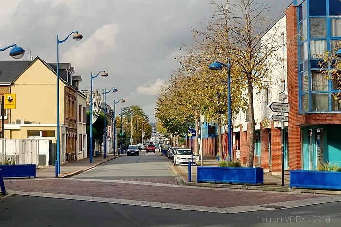 Rue Béranger vue de la place Charles de Gaulle - Sotteville-lès-Rouen