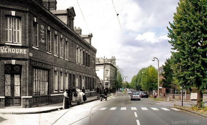 Rue de paris, au carrefour de la gare - Sotteville-lès-Rouen