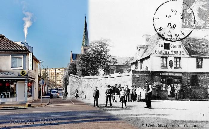 La rue Littré, quand elle ne débouchait pas encore rue Pierre Corneille - Sotteville-lès-Rouen
