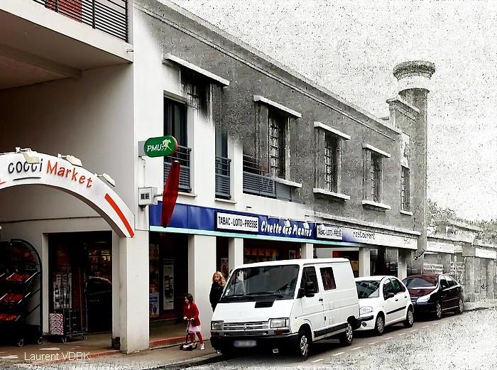 """Le """"Cheval Noir"""" et la rue de Trianon - Sotteville-lès-Rouen"""
