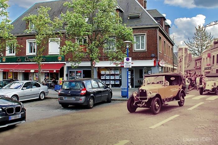 Quand la rue de la République débouchait place Voltaire - Sotteville-lès-Rouen
