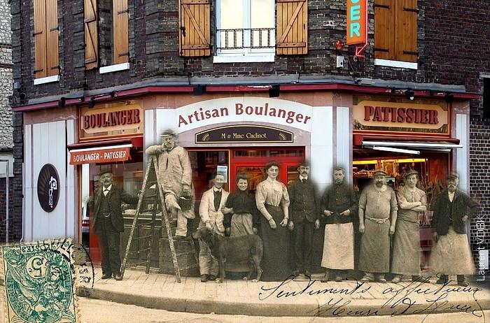 Boulangerie angle rue de Paris et Raspail - Sotteville-lès-Rouen