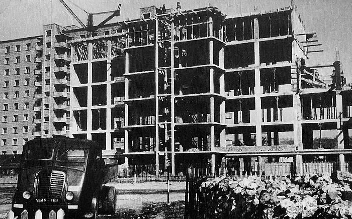 L'immeuble Bourgogne en construction à Sotteville-lès-Rouen