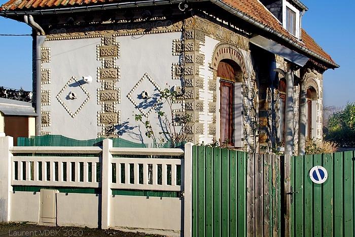 Maison aux coquillages rue Marguerite à Sotteville-lès-Rouen