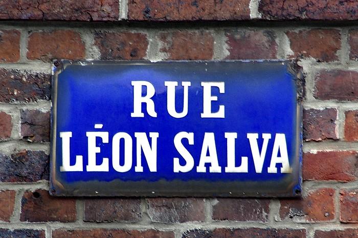 Ancienne plaque de rue Léon Salva - Sotteville-lès-Rouen