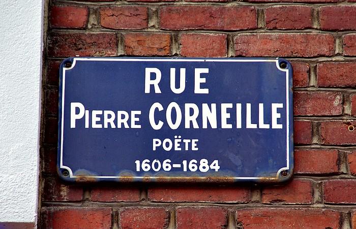 Vieille plaque de rue Pierre Corneille - Sotteville-lès-Rouen