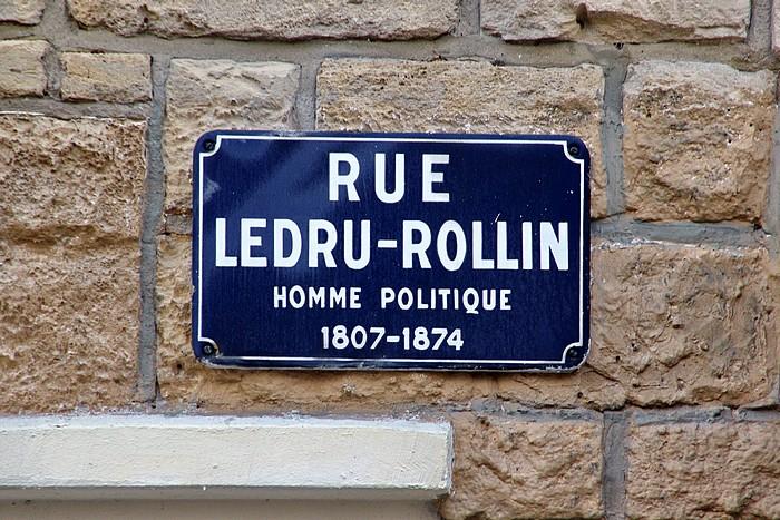 Vieille plaque de rue Ledru-Rollin - Sotteville-lès-Rouen