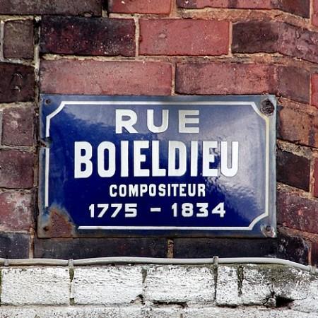 Vieille plaque de rue Boieldieu - Sotteville-lès-Rouen