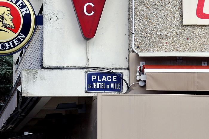 ancienne plaque place Hotel de Ville - Sotteville-lès-Rouen