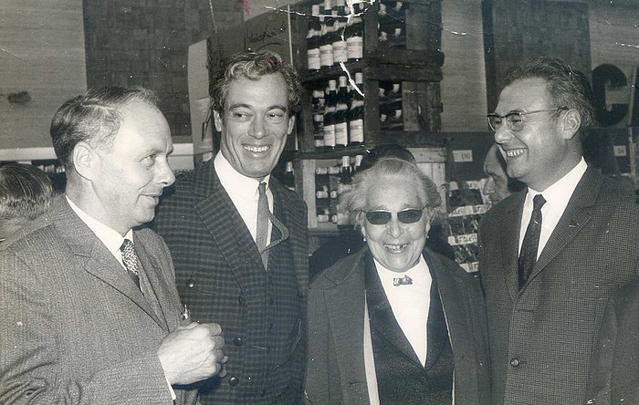 Roland Tafforeau inauguration Suma 1966 avec Roger Lanzac