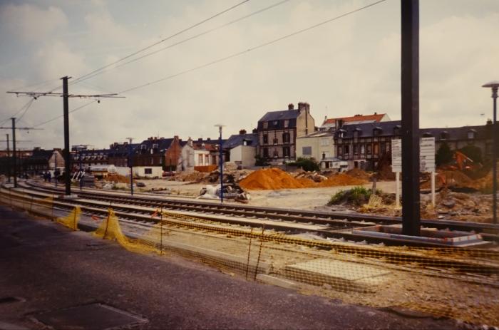 Construction métro place Voltaire à Sotteville-lès-Rouen