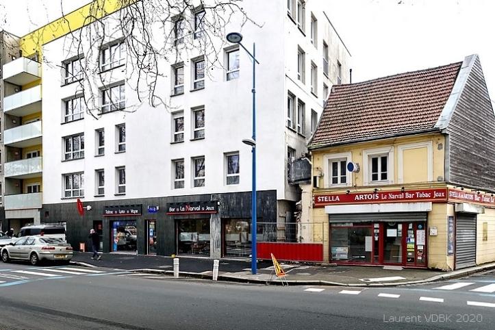 L'ancien et le nouveau bar-tabac Le Narval rue Raspail à Sotteville-lès-Rouen