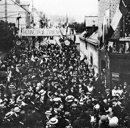 Inauguration rue Zamenhof 14 mai 1914 - Sotteville-lès-Rouen