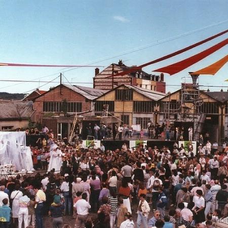 """Festival """"Gare à la fête"""" en 1990 à Sotteville-lès-Rouen"""
