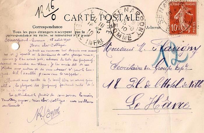Carte Postale du groupe Esperanta Stelo