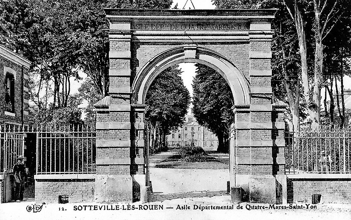Asile départemental Quatre-Mare Saint-Yon (Centre Hospitalier du Rouvray) - Entrée