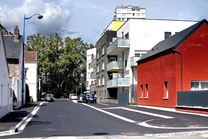 Angle rues Victor Hugo et Boieldieu à Sotteville-lès-Rouen : la résidence Charlotte Perriand