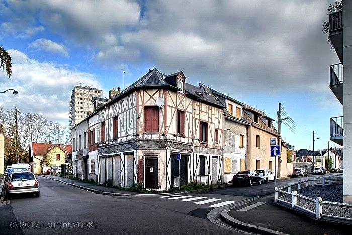 Angle rues Victor Hugo et Boieldieu à Sotteville-lès-Rouen