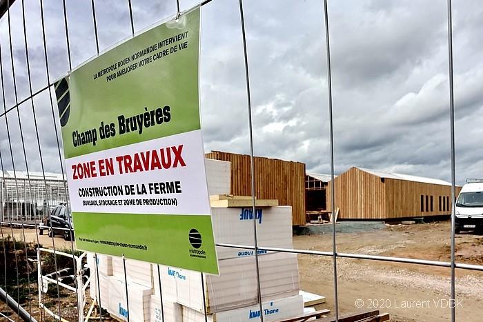 Construction de la ferme du Champ des Bruyères à Sotteville-lès-Rouen