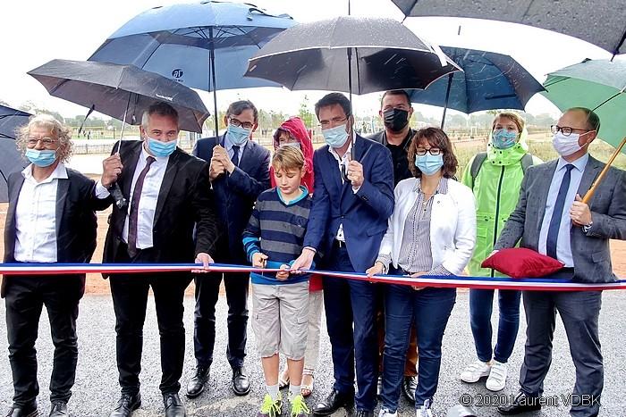 Inauguration du Champ des Bruyères par les élus locaux