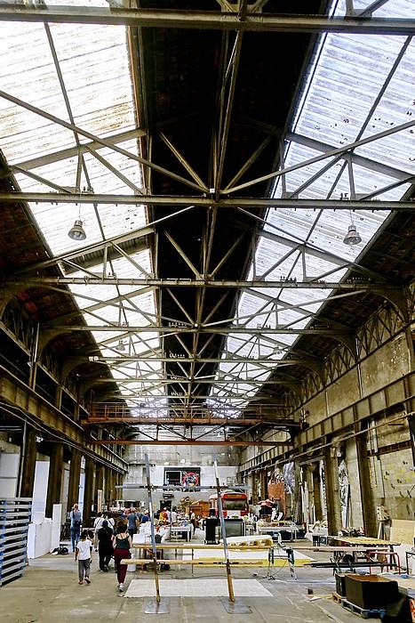 La grande halle de l'Atelier 231 à Sotteville-lès-Rouen