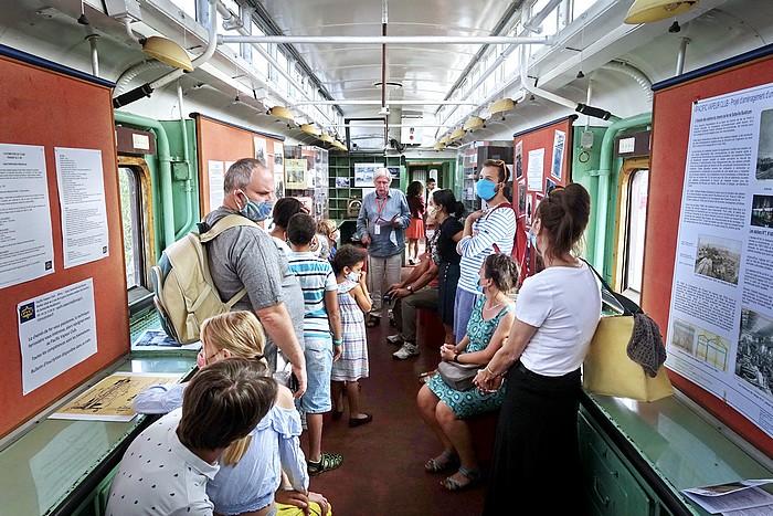 Journées du patrimoine : dans le wagon postal du Pacific Vapeur Club de Sotteville-lès-Rouen