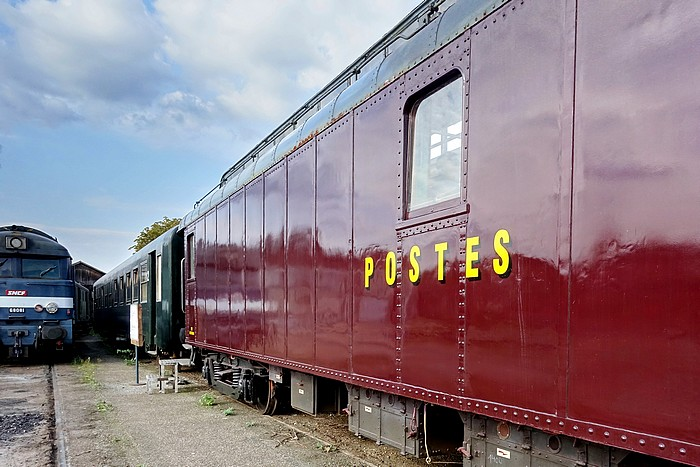 Journées du patrimoine : Le wagon postal du Pacific Vapeur Club de Sotteville-lès-Rouen