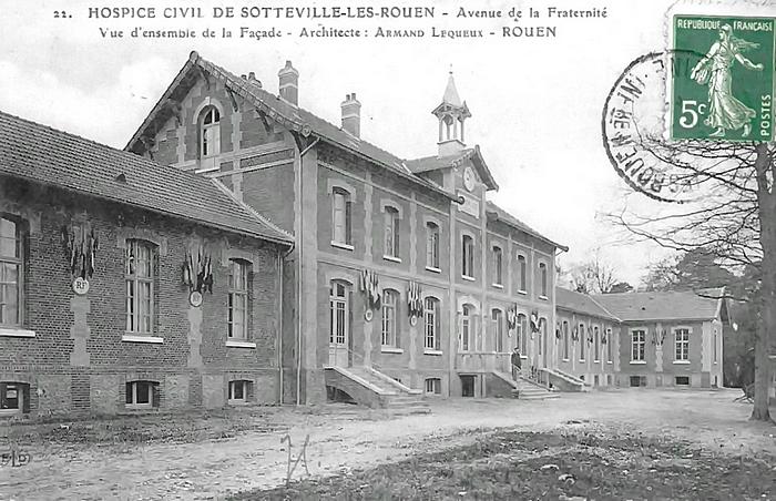 Façade de l'Hospice 1911 de Sotteville-lès-Rouen